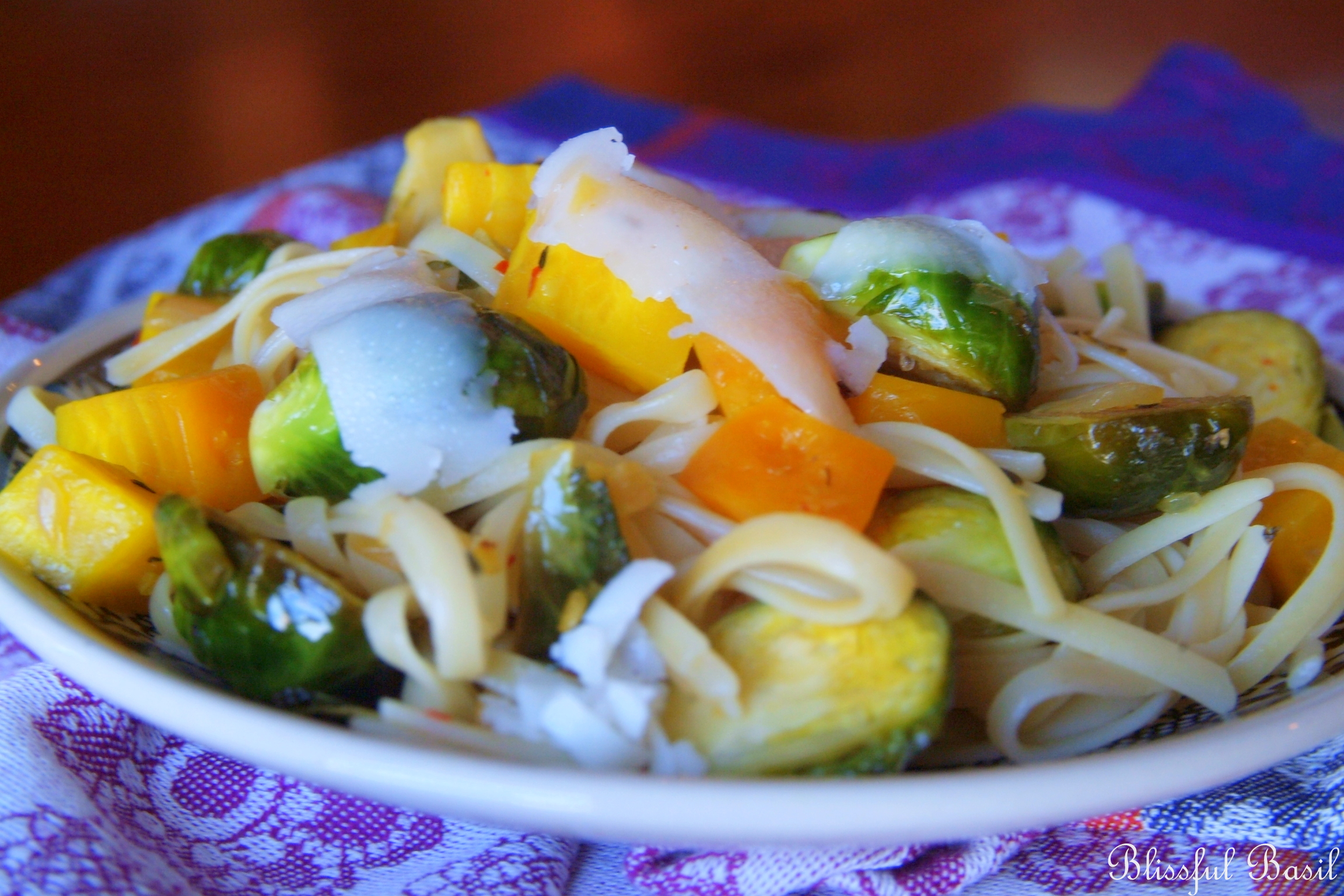 Linguine Agliolio with Golden Beets and Brussels Sprouts ...