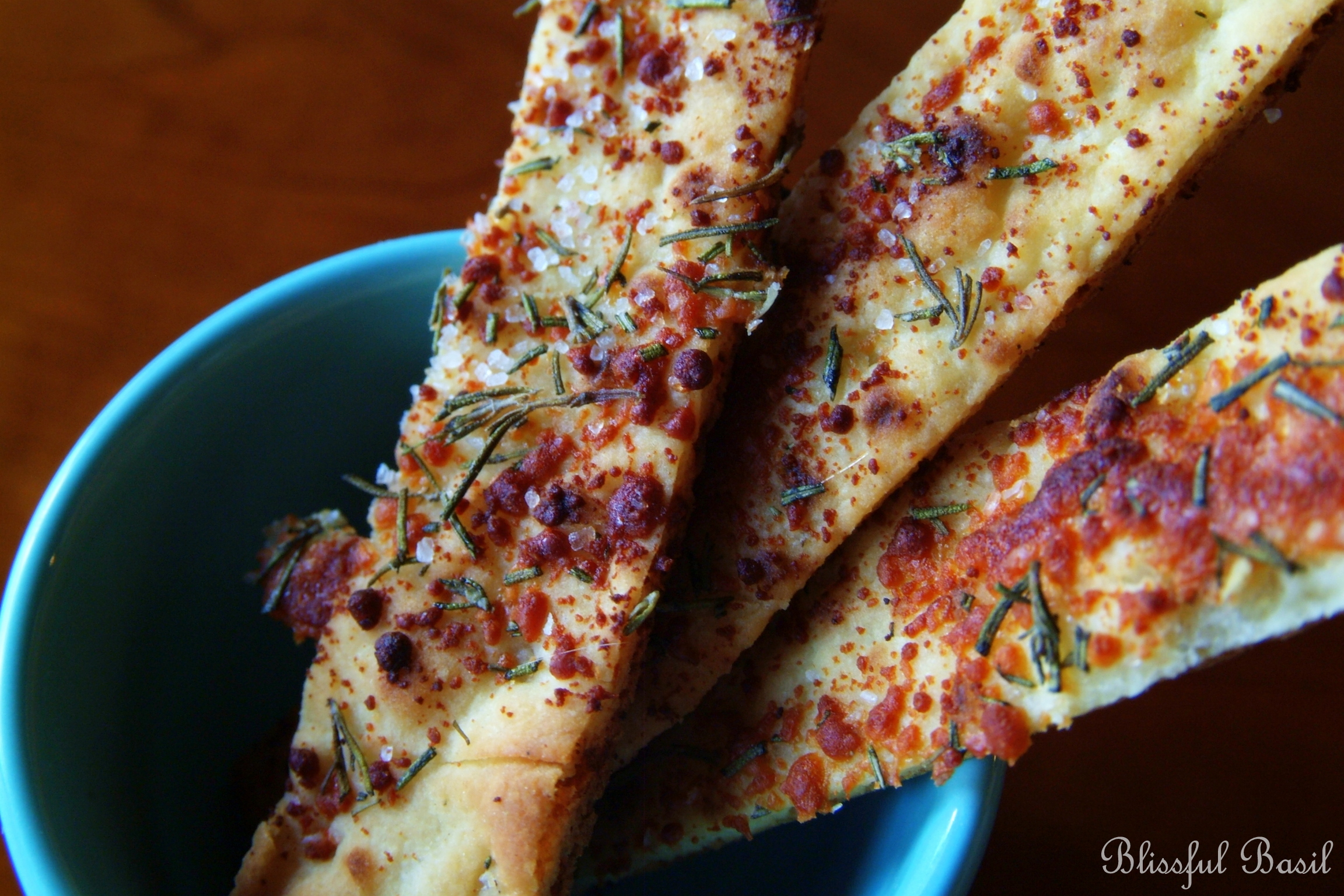 White Bean Hummus with Rosemary-Parmesan Dippers - Blissful Basil ...