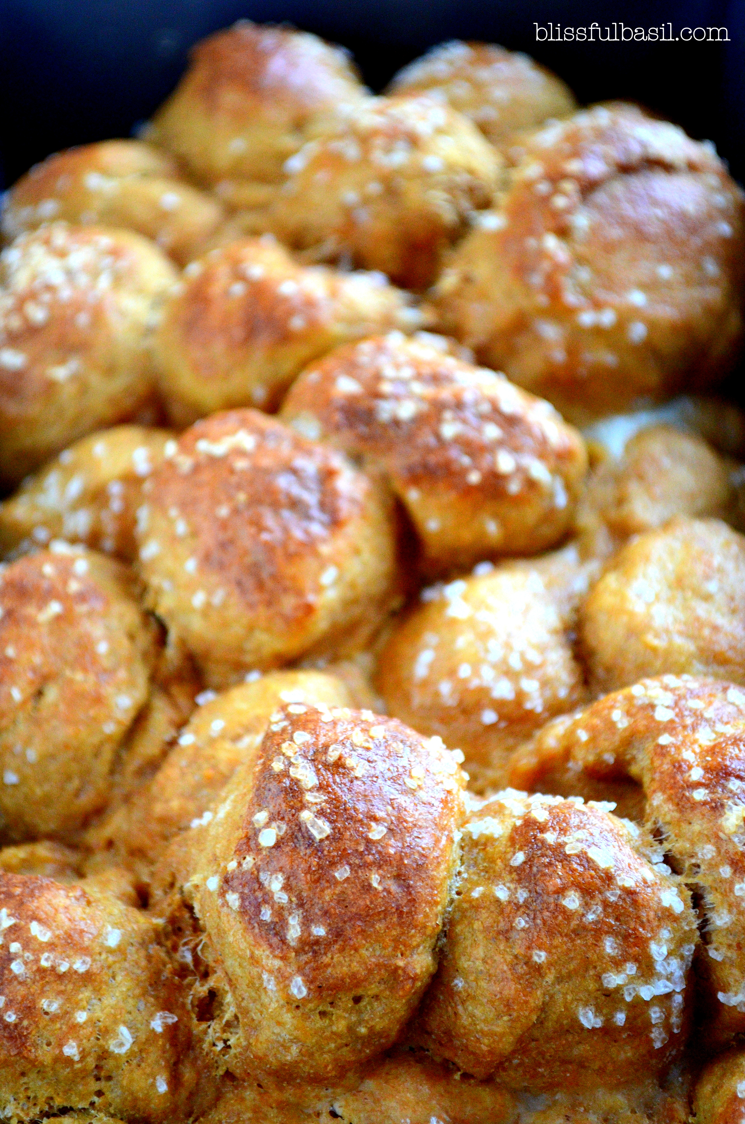 Whole-Wheat Pretzel Monkey Bread