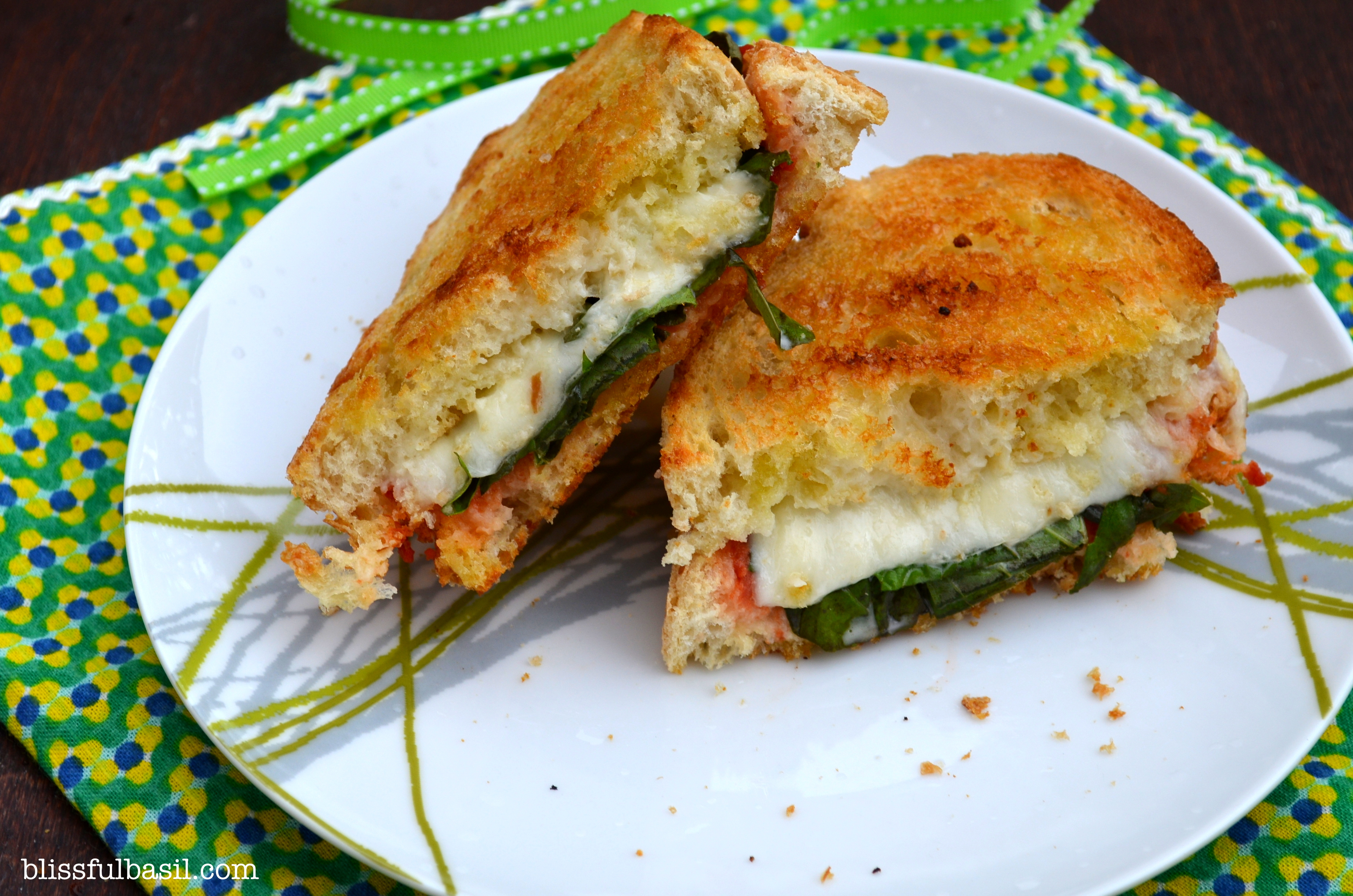 Margherita Pizza Grilled Cheese